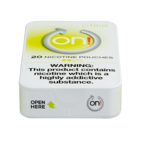 on! Citrus 2 Nicotine Pouches
