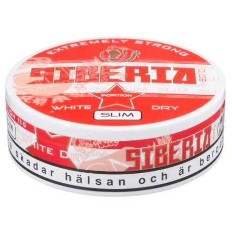 Siberia -80°C Slim White Dry Portion Snus