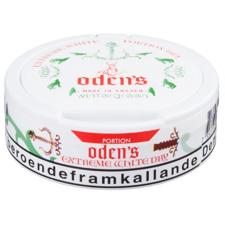 Odens Extreme Pure Wintergreen White Dry Portion