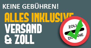 ALLES INKLUSIVE: Versand, & Zoll